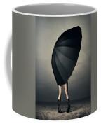 Woman With Huge Umbrella Coffee Mug