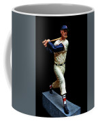 Wood Carving - Ted Williams 001 Black Background Coffee Mug