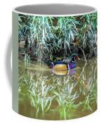 Wood Duck Reflection Coffee Mug