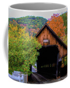 Woodstock Middle Bridge In October Coffee Mug by Jeff Folger