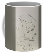 Worried Fox Sketch Coffee Mug
