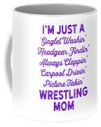 Wrestling Singlet Washin Mom Purple Gift Dark Coffee Mug