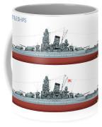 Yamato Class Battleships Port Side Coffee Mug