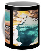 Yellowstone Hot Springs Triptych Coffee Mug