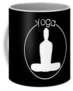 Yoga Image Of Silhouette Of Woman Sitting In Lotus Position Or Padmasana Coffee Mug