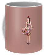 Young Beautiful Dancer Posing On Tan Background Coffee Mug