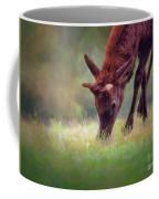 Young Elk Grazing Coffee Mug