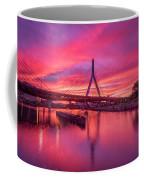 Zakim Bridge Sunset Coffee Mug
