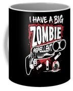 Zombie Repellent Halloween Funny Gun Art Dark Coffee Mug