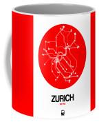 Zurich Red Subway Map Coffee Mug