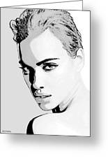 # 1 Irina Shayk Portrait Greeting Card