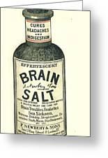 1890s Uk Brain Salt Headaches Humour Greeting Card