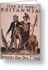 1918 1910s Usa Uncle Sam Ww1  Lions Greeting Card