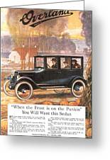 1920s Usa Overland Cars Greeting Card