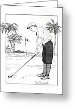 1920's Vintage Golfer Greeting Card