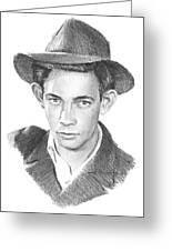 1930s Uncle Pencil Portrait Greeting Card