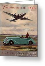 1940s Uk Aviation Hawker Siddeley Cars Greeting Card