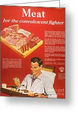 1940s Usa Convalescents Meat Eating Greeting Card