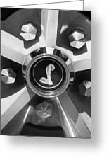 1969 Shelby Gt500 Convertible 428 Cobra Jet Wheel Emblem Greeting Card