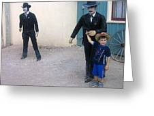 3 Godfathers Homage 1948 Ok Corral Tombstone Arizona  Greeting Card