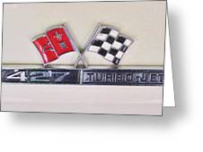 427 Turbo Jet Corvette Emblem Greeting Card