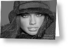 # 5 Adriana Lima Portrait Greeting Card