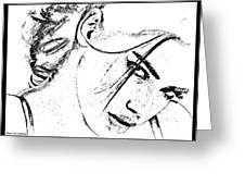 # 9 Adriana Lima Portrait. Greeting Card