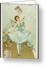 A Ballerina Balances A Liebig Greeting Card