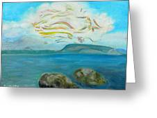 A Cloud Over The Sea Greeting Card