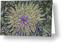 A Dandelion By A Different Color Greeting Card