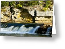 A Quiet Place  Waterfall Greeting Card