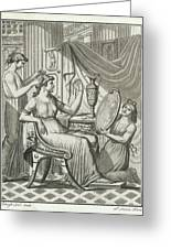 A Roman Lady Has Her Hair Done Greeting Card