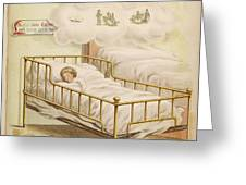 A Young Girl Dreams Of Riding Greeting Card