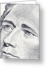 Alexander Hamilton's Ten Dollars Portrait Greeting Card