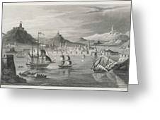 Algiers  Viewed From The Sea Greeting Card