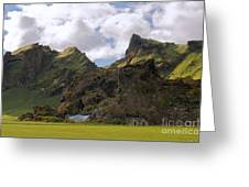 Along The Southern Coast Of Iceland. Greeting Card