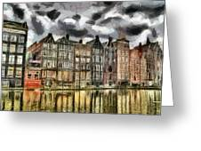 Amsterdam Water Canals Greeting Card