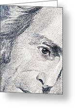 Andrew Jackson's Twenty Dollars Portrait Greeting Card