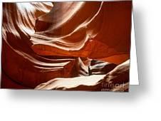 Antelope Slot Canyon Greeting Card