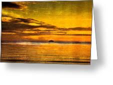 Autumn Sunset Over Ailsa Craig Greeting Card