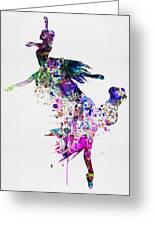 Ballet Watercolor 3 Greeting Card
