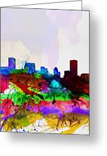 Baltimore Watercolor Skyline Greeting Card