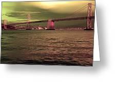 Bay Bridge, San Francisco Greeting Card