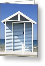 Beach Hut Greeting Card