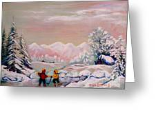 Beautiful Winter Fairytale Greeting Card