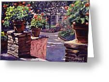 Bel-air Gardens Greeting Card by David Lloyd Glover