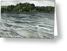 Big Muskallunge Lake  Greeting Card by Helen Klebesadel