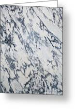 Black And White Marble Greeting Card