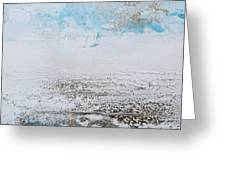 Blue Shore Rhythms And Textures 1 Greeting Card