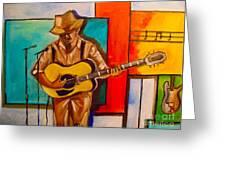 Bluesman Greeting Card